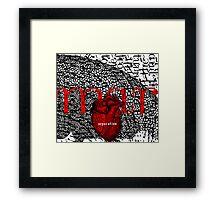 march = separation Framed Print