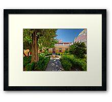 The Courtyard Garden Framed Print
