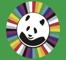 rainbow panda Kids Clothes
