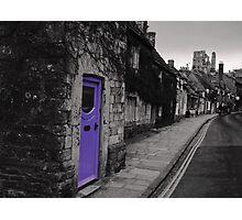 Purple door Photographic Print