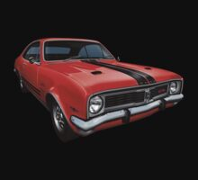 Australian Muscle Car - HT Monaro, Sebring Orange by tshirtgarage