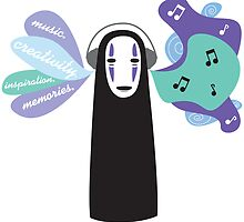 No-Face likes Music. by SebyMayuri