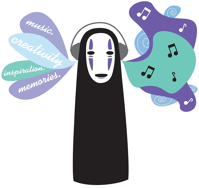 No-Face likes Music. by SebyMayuri