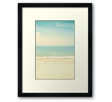 Mint Pastel Pale Blue Beach  Framed Print