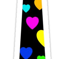 tie hearts Sticker