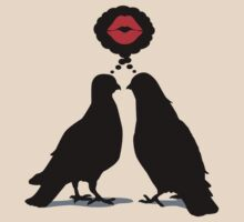 Kiss thinking Doves - Two Valentine Birds 3c by hardwear