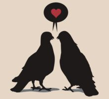 Love saying Doves - Two Valentine Birds by hardwear