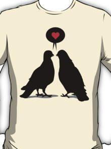 Love saying Doves - Two Valentine Birds T-Shirt