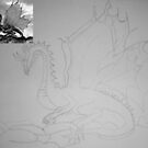 Dragon Drawing by Vicki Spindler (VHS Photography)