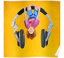 Playing in the headphones Poster