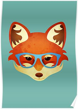 Hipster Fox by Compassionate Tees