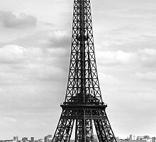 Eiffel Tower BLACK AND WHITE by Melanie Viola
