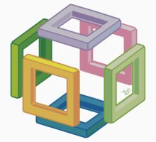 Expanding Necker Cube by Tai's Tees by TAIs TEEs