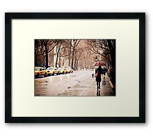 Rain - Washington Square - New York City Framed Print