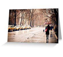 Rain - Washington Square - New York City Greeting Card