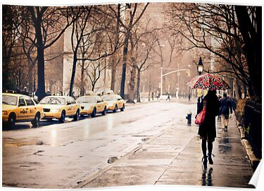 Rain - Washington Square - New York City by Vivienne Gucwa