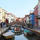 Burano Boats Canals and Houses by Sean Foreman