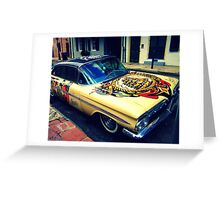 Sailor Jerry Car in the French Quarter Greeting Card
