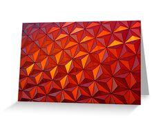 Geometric Epcot Greeting Card