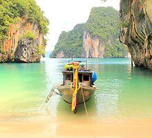 Longtail Boat - Hong Islands - Thailand by Honor Kyne