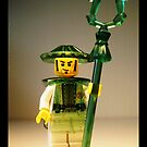 Ching Dynasty Chinese Warrior Custom LEGO Minifigure with Trans Green Armour, by &#x27;Customize My Minifig&#x27; by Chillee