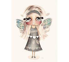 vintage hearts and wings Photographic Print