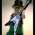 Guitarist Custom LEGO Minifigure with Guitar, by &#x27;Customize My Minifig&#x27; by Chillee