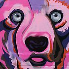 Melbourne Graffiti Street Art Pink Bear by NicNik Designs