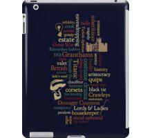 Downton Abbey Word Mosaic iPad Case/Skin