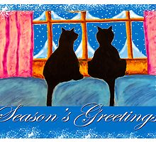 """Kitties Watching For Santa"" by Steve Farr"