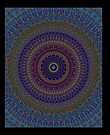 Blue Mandala-iPad Case by Pamela Phelps