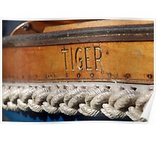 Tiger name on boat Salcombe, Devon, UK Poster