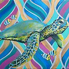 Turtle and Fish by AC-Paintings