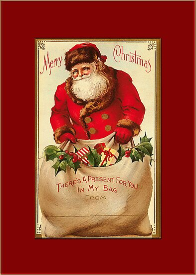 A Present for You Christmas Card by Pamela Phelps