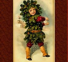 Holiday Boy Christmas Card by Pamela Phelps