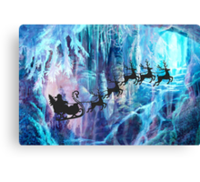 SANTA FROM THE DEPTHS OF THE NORTH POLE Canvas Print