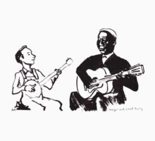 Young Pete Seeger and Huddie Lead Belly by Joel Tarling