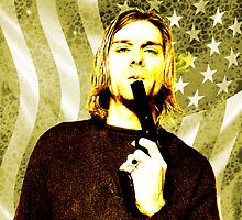 Kurt Cobain, Flag n Gun by Chris-Cox