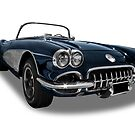 Chevrolet - 1958 Corvette C1 Convertable by axemangraphics