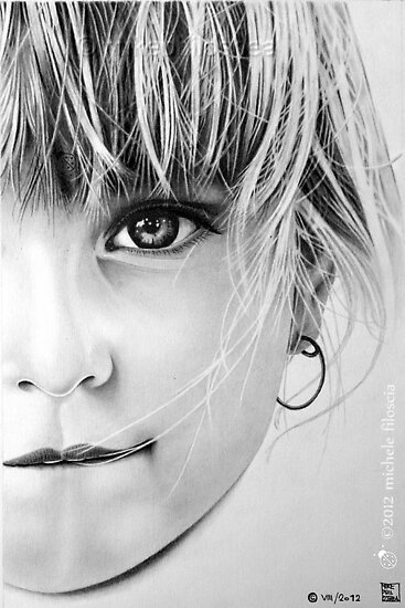 Young Girl Portrait by Michele Filoscia