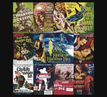 B movie collage, Horror by monsterplanet