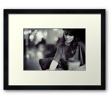 Amanda Tapping vs. Leica - Deep in Thought Framed Print