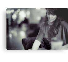 Amanda Tapping vs. Leica - Deep in Thought Metal Print