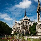 Flower Garden at Notre Dame by BH Neely