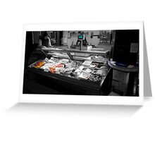 Fish Stall Greeting Card