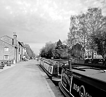 Boats at Fradley Junction  by Rod Johnson