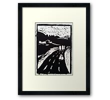 On route - on the road (highway) Framed Print