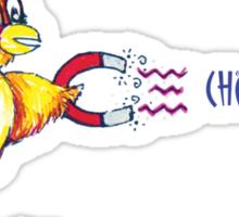 Chick Magnet Shirt (Drawn) Sticker