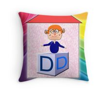 D is for Daddy Play Brick Throw Pillow