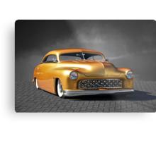 1950 Mercury Custom on B/W Metal Print